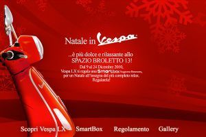 Natale in Vespa - Touch screen app for showroom in Milan - 02