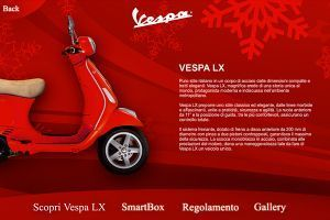 Natale in Vespa - Touch screen app for showroom in Milan - 03