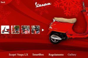 Natale in Vespa - Touch screen app for showroom in Milan - 04