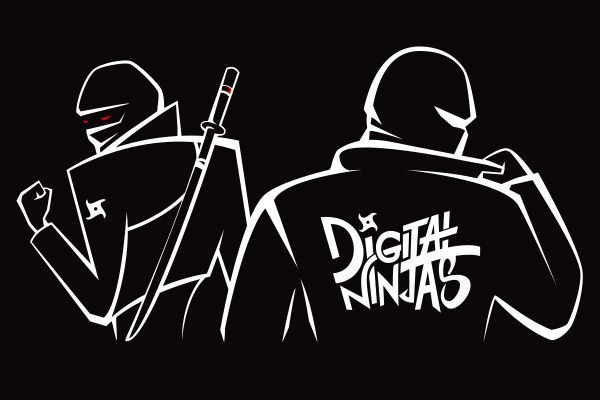 Digital Ninjas - Logo design and character creation - 01