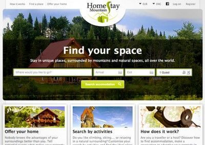 Homestay Mountain - Project management and website design - 01