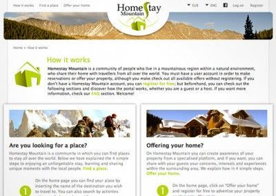 Homestay Mountain - Project management and website design - 02