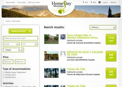 Homestay Mountain - Project management and website design - 03