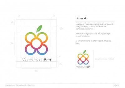 MacServiceBcn - Logo design and brand style guide - 03